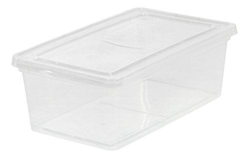 (IRIS USA, Inc. 6 Quart Non-Latching Box, 18 Pack, Clear)