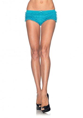 Mememall Fashion Women's Sexy Micromesh Lace Ruffle Tanga Shorts Panties Panty Lingerie Boy Short (Kids Union Officer Hat)