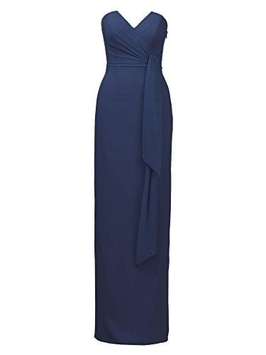 Dresses Elegant Party Dress Dress Bridesmaid Back Navy Split Alicepub Evening Maxi qt4Y7A