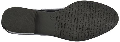 Tamaris 23205, Zapatos de Cordones Oxford para Mujer Negro (BLACK LEATHER 003)