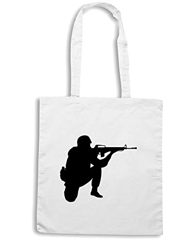 SOLDIER OLDENG00098 GRAPHIC Borsa Speed Shopper Shirt Bianca x0YAqxvwZ