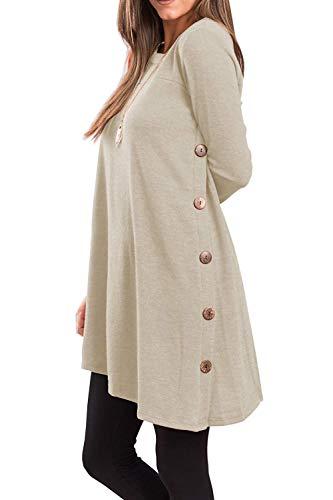 Yidarton-Pull-Robe-Femme-Hiver-Col-V-Casual-Manche-Longue-Mini-Robes-Tunique