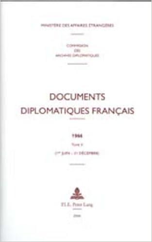 Documents Diplomatiques Francais, 1966: 1er-juin - 31 Decembre pdf epub