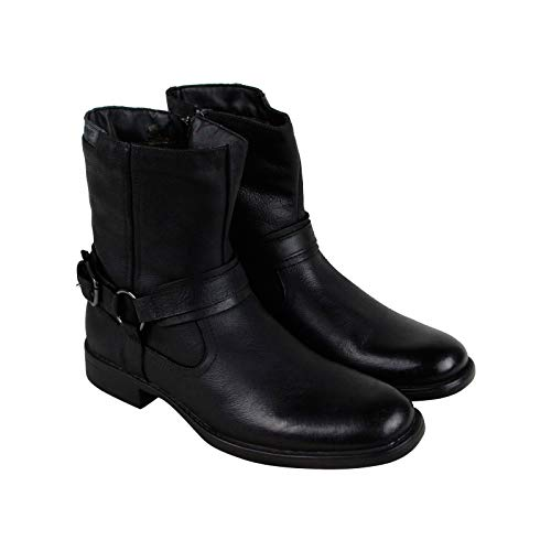 Robert Wayne Conway Mens Black Leather Casual Dress Zipper Boots Shoes 9.5