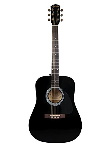 Fender FA-100 Dreadnought Acoustic Guitar – Black