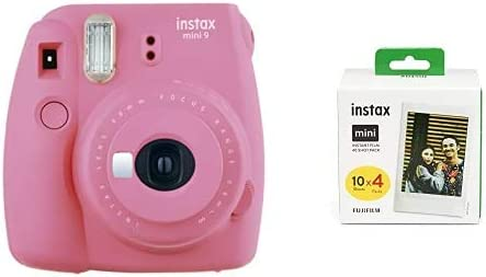 Fujifilm Instax Mini 9 - Cámara instantanea, Rosa (Flamingo Rosa) + Pack de 40 películas: Amazon.es: Electrónica