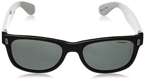 Black White para Negro niños Gafas P0115 Polarized Grey Rectangulares de Polaroid sol 8q77Z