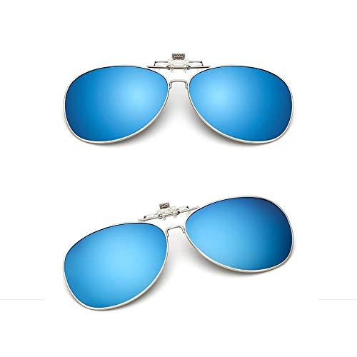 ba5e9ca780 KOMNY Las Gafas de Sol polarizadas con miopía con Clip Pueden Colgar  anteojos de Sol en Las Gafas, D B