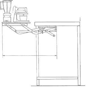 Wood Technology Kitchen Appliance Lift in White - smallkitchenideas.us