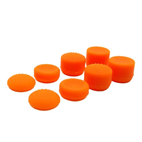 - Cywulin Thumb Grip Set Joystick Cap Thumbsticks for PS4 Slim Pro Controller, PS2, PS3, Xbox 360, Wii U Controller Analog Silicone Concave Thumb Stick Cover for Playstation 4 Gamepad (Orange)