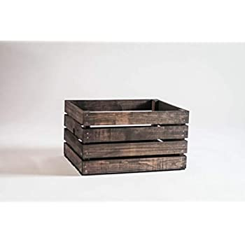 Darla'Studio 66 Vintage Stained Rustic Wood Crate