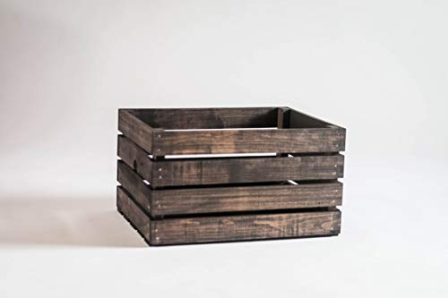 Darla'Studio 66 Vintage Stained Rustic Wood Crate (For Storage Wooden Sale Crates)