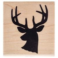 Deer Silhouette Rubber StampNew by: CC by CraftyCrocodile
