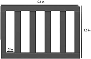 Gray StorkCraft Graco Toddler Guardrail 01350-30G Safety Guard Rail for Convertible Crib /& Toddler Bed