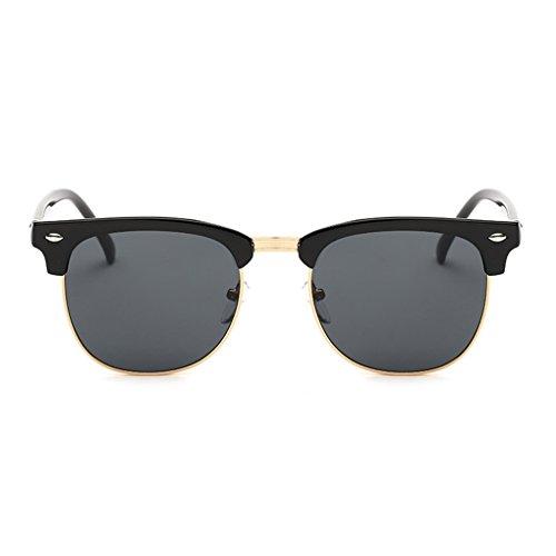 monture Film unisexe de UV400 Noir Protection soleil clair Couleur Lunettes Golden Voyage Lunettes Meisijia gris Xp5Hawq0