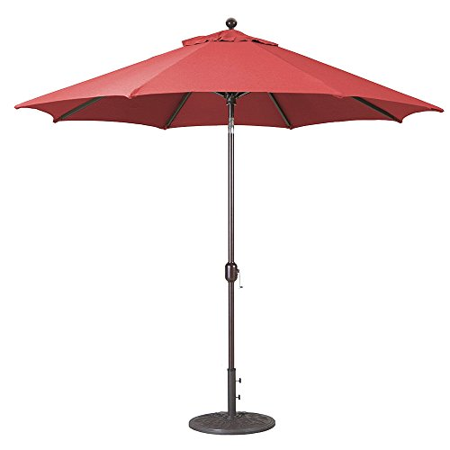 9Ft Galtech (Model 737) Deluxe Auto-Tilt Umbrella w/Antique Bronze Frame & Sunbrella (Deluxe Auto Tilt Umbrella)