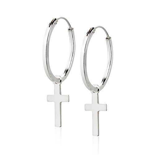 Sterling Silver Endless Earrings 18x30mm