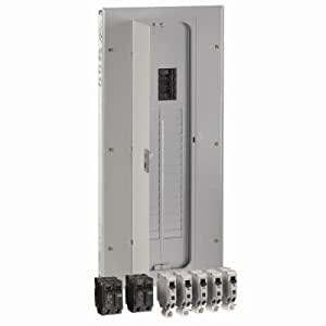 GE 200 Amp 32-Space Main Breaker Indoor Load Center Combination Arc Fault Kit with 20 Amp CAFCI Breakers Included