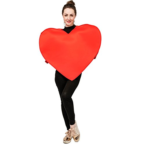 DSplay Emoticon Costumes for Unisex Adult OneSize (Heart)