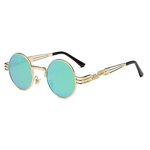 Rond Steampunk Métal WrapEyeglasses C13 Gothique de hibote Hommes Femmes soleil Lunettes Polarized 1EnqwA5ax