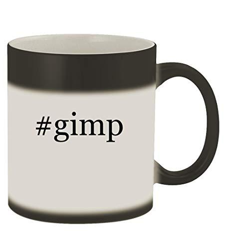 #gimp - 11oz Hashtag Magic Color Changing Mug, Matte Black