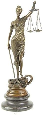 Real Bronze Lady Justice - Escultura de Abogado, Juez, Ley, Firma ...