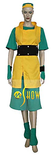 Mtxc Women's Avatar: The Last Airbender Cosplay Costume Toph Beifong Full Set Size Small Yellow -