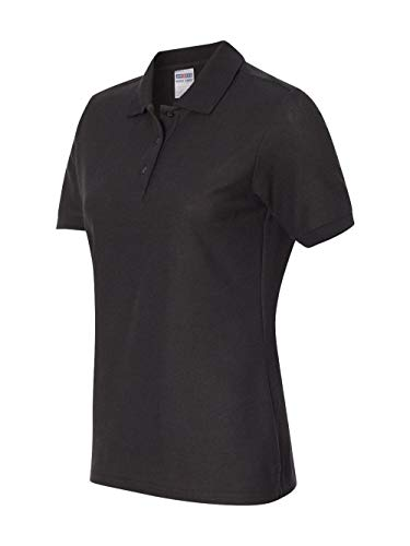 (Jerzees 537W Ladies Easy Care Polo - Black - S)