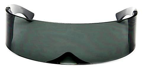 Amazon.com: WebDeals - Futuristic Cyclops Alien Shield Gafas ...
