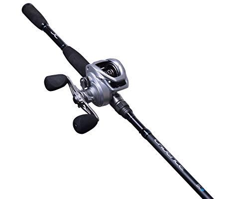 Cadence BC6 Baitcasting Combo, 6.6/7ft Medium Rod & Reel Combo, 24 Ton Carbon Rod, 2 Piece Blank Split Design,Aluminum Main Gear Reel,Magnetic Brake,20lbs Carbon Fiber Drag Fishing Baitcaster Combo