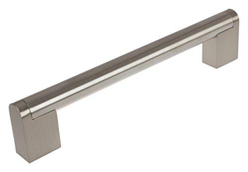 GlideRite Hardware 52003-160-SN-10 Round CC Cross Bar Cabinet Pull, 10 Pack, 6.25