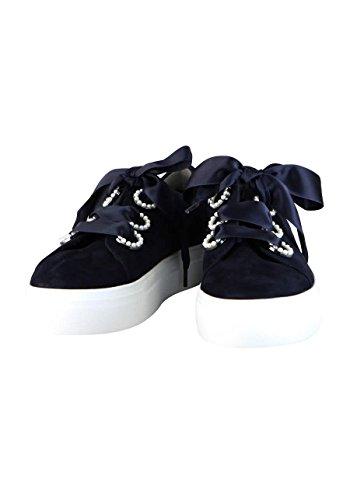 Kennel & Parels Schmenger Sneaker Satijnen Lint Nachtblau