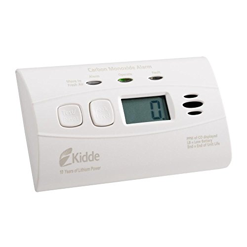 Kidde 21010047 C3010D Worry-Free Carbon Monoxide Alarm with Digital Display and 10 Year Sealed Battery