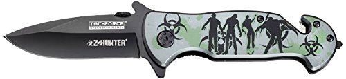 Tac Force TF-799Gh Spring Assist Knife, Closed:4.5-Inch
