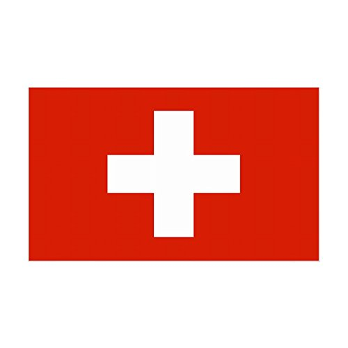 CafePress - Swiss Flag Rectangle Sticker - Rectangle Bumper Sticker Car Decal Rectangle Swiss