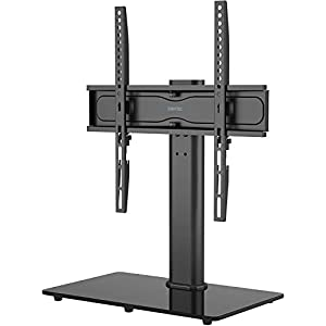 BONTEC Support TV sur Pied TV Universel Pivotant pour Télévisions de 26 à 55 Pouces LCD/LED/Plasma Hauteur Réglable avec…