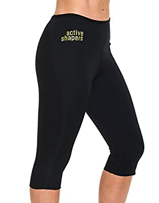Active Shapers Womens Anti Cellulite Workout Capri Hot Pants