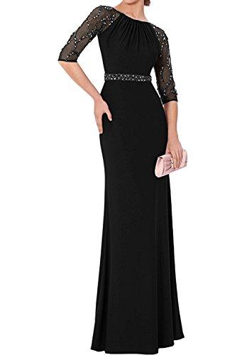 LaMarie Braut Elegant Chiffon Langarm Steine Brautmutterkleider ...
