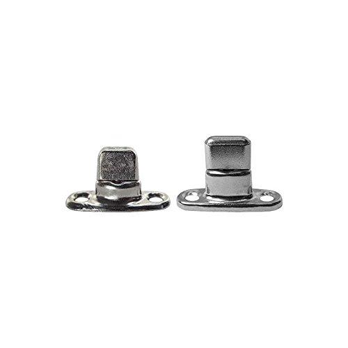 MACs Auto Parts 16-61708 Model T Ford Side Curtain Fastener Set - Common Sense - Nickel - 16 Piece Set - Roadster
