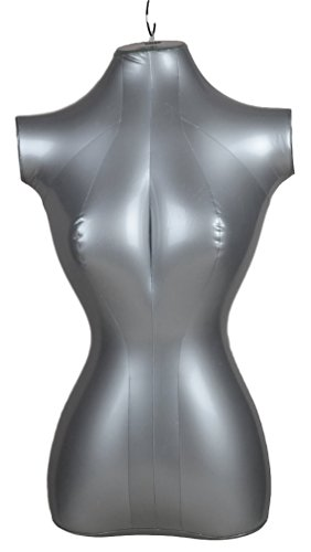 Inflatable Female Half Body Mannequin Torso Top Shirt Dress Form Dummy Model Display -