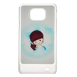 HC-Diseño Cubierta azul Cute Girl protector duro de nuevo caso para Samsung Galaxy S2 I9100