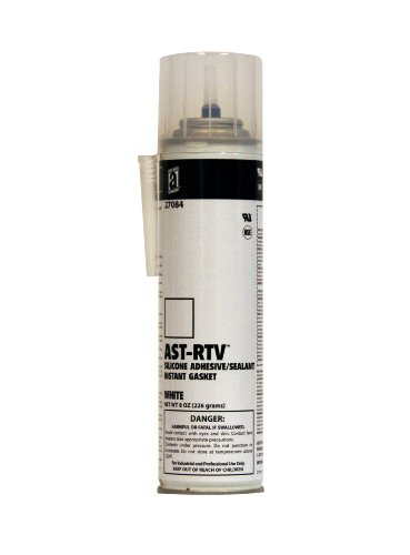 AST-RTV 27084 White 100% Silicone Adhesive/Sealant/Instant Gasket, 8 oz. Pressurized Can with Applicator Tip