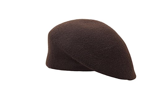 Liveinu Women's 100% Wool Beret Hat Winter French artist Berets Coffee