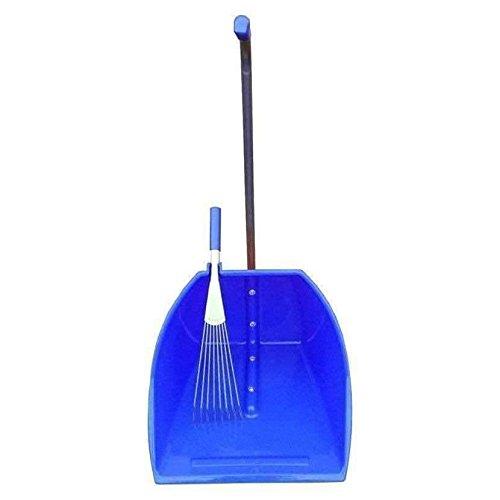 Faulks Tubtrugs grande y recogedor - Extra Grande caca Cucharón MUGRE Skip con rastrillo - Azul TD600.P
