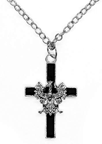 - Necklace - White Eagle Cross, Black