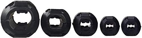 XShine Clip-on Ferrite Ring Core RFI EMI Noise Suppressor Cable Clip for 3mm// 5mm// 7mm// 9mm// 13mm Diameter Cable Pack of 20pcs Black