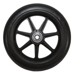 Roscoe Replacement Wheel 6 Inch With Bearing Black - 7 Spoke Wheel - For Z600 Series - Part # (Seven Spoke)