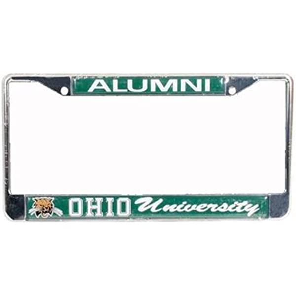 NCAA Rico Industries Laser Inlaid Metal License Plate Tag Ohio Bobcats