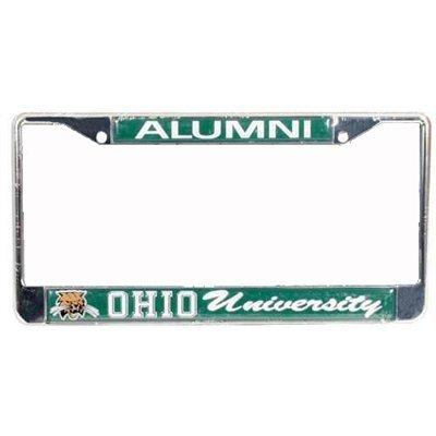 Stockdale Ohio University Bobcats Alumni Metal License Plate Frame W/domed Insert