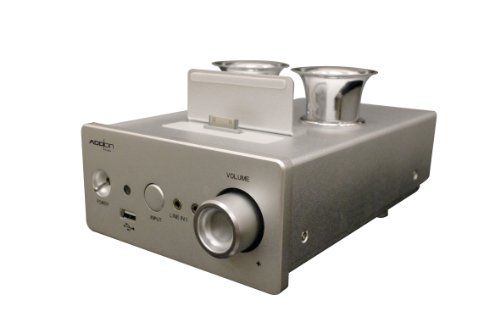 Add On Technology Co., Ltd. Amp_01 i-Concertino+LS-560 Vacuum Tube Amplifier for iPod/iPhone/iPad with HDMI Output (Silver) Add On Technology Co., Ltd.